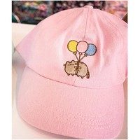 Pusheen Balloon Pink Dad Hat