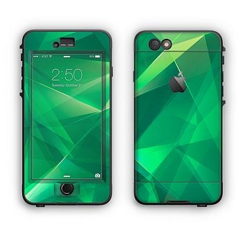 The Shiny Vector Green Crystals Apple iPhone 6 Plus LifeProof Nuud Case Skin Set