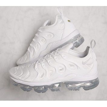 Nike Air Vapormax Trending Women Men Running Sneakers Sport Shoes Pure White I