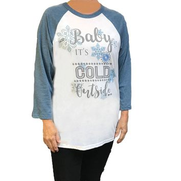 Baby It's Cold Outside Raglan Graphic Tee