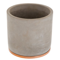 Cylinder Flower Pot with Metallic Base | Hobby Lobby | 1595594