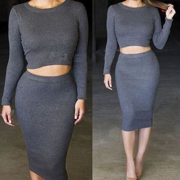 CUTE HOT FASHION TWO PIECES SWEATER