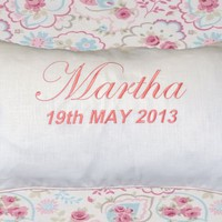 Embroidered Christening Cushion