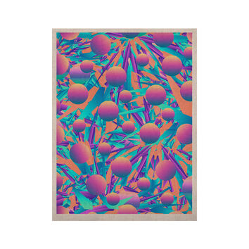 """Danny Ivan """"Blind Face"""" Pink Blue KESS Naturals Canvas (Frame not Included)"""