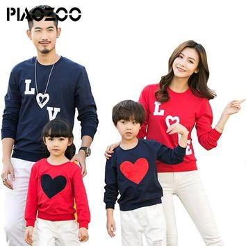 New Christmas Family Matching sweaters Women Men Baby Kids brother sister Family Love pattern Photography Clothes Set P20