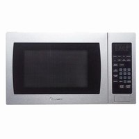 Magic Chef 0.9 cu. ft. Countertop Microwave in Stainless Steel-MCM990ST - The Home Depot