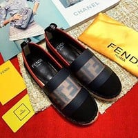 Fendi Cloth fisherman shoes