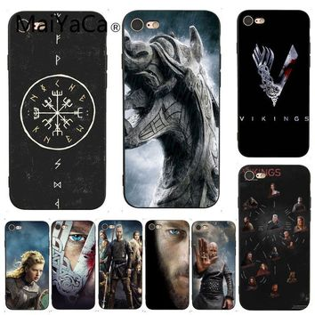 MaiYaCa For iphone 7 Case Vikings Cover TV Painted Beautiful Phone Accessories Case for iPhone 7 6 X  6S 7 7plus 8 8Plus XS XR
