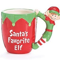 Santa's Favorite Elf Christmas Holiday Mug