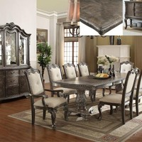 7 Pc. Kiera Grey Formal Dining Room Set