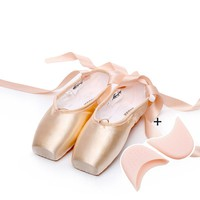2017 Hot Adult ballet pointe dance shoes ladies professional ballet dance shoes with ribbons shoes woman 4041