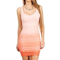 IvoryCoral Crochet Tank Dress