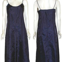 Vintage 1970s Blue Sateen Full Slip