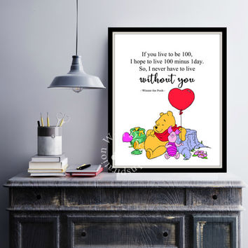 Without you | Best Friends | Kids Nursery Room | Art Print | Inspiration Poster | Home Decor Print | Printable Quote | Typography