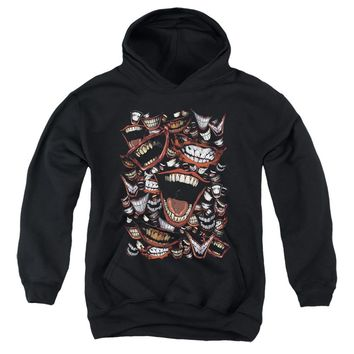 Batman Kids Hoodie Joker Laugh Repeat Black Hoody