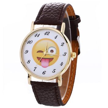 XINIU Smiling face Expression on Wrist watch New Simple Design Quartz Watches Bracelet Watches for Lady Relogios Femininos