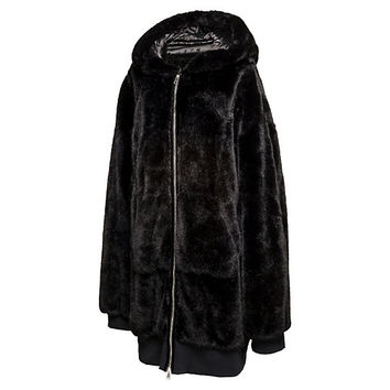 OVERSIZED ZIP-UP FAUX FUR BOMBER JACKET, buy it @ www.puma.com