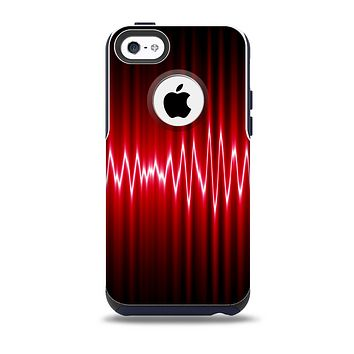 The Glowing Red Wiggly Line Skin for the iPhone 5c OtterBox Commuter Case