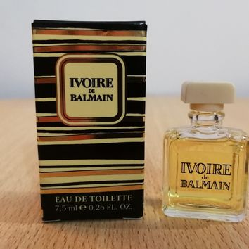 Ivoire de Balmain for WOMEN edt 7.5 ml MINI MINIATURE PERFUME FRAGRANCE New