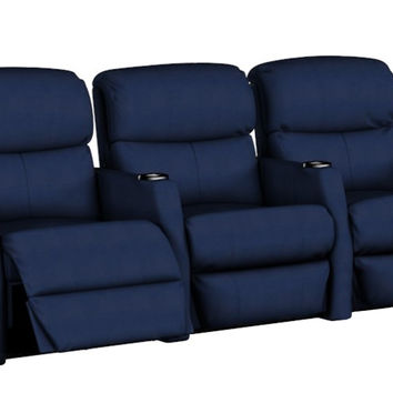 Reclining 3-Seat Home Theater Seating Sofa (Straight) Atlantis by Savvy