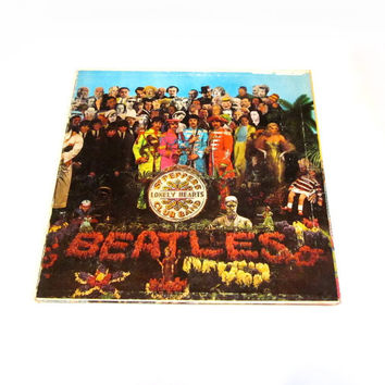 1967 Beatles Sgt. Pepper's Lonely Hearts Club Band MAS-2653 Vinyl LP MONO