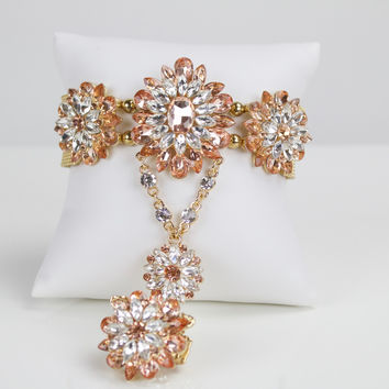 Fractal Flower Bracelet Rose Gold