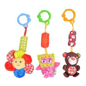 Colorful Baby Bright Starts Stroller Toys, 3 Piece