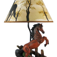 1Horse Table Lamp Brown Horse 65% OFF