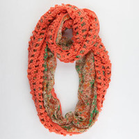 Figure 8 Knit/Woven Ditsy Infinity Scarf 216139313 | Scarves | Tillys.com