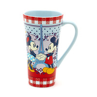 Disneyland Paris Bistro Collection Mickey and Minnie Mouse Mug | Disney Store