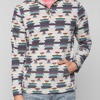Koto Jacquard Henley Pullover Hoodie Sweatshirt - Urban Outfitters