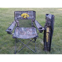 Iowa Hawkeyes NCAA Ultimate Real Tree Camo Adult Tailgate Chair