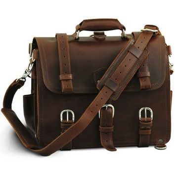 Saddleback Leather Co. Medium Classic Briefcase in Chestnut