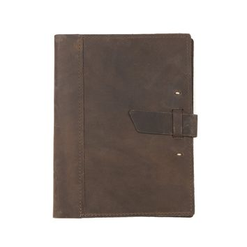 Large Leather Composition Cover - With Buckle