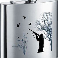 Visol Duck Hunting Stainless Steel 7oz Hip Flask