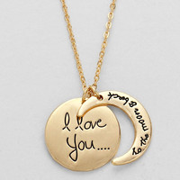 """I Love You To The Moon & Back"" Necklace"
