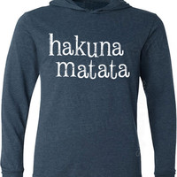 HAKUNA MATATA Unisex Long Sleeve Hooded Hoodie T-Shirt s, m, l, xl