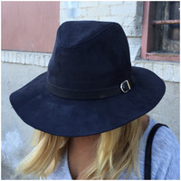 Black Buckle Homburg Hat - Black Buckle Homburg Hat