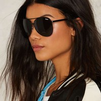 Quay Vivienne Aviator Shades - Black