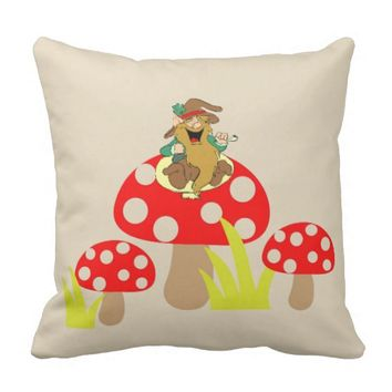Mushrooms Throw Pillow