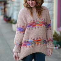 All is Bright Sweater {Blush Multi}