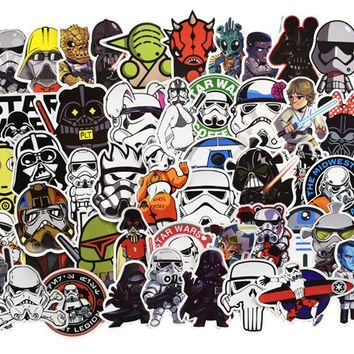 Star Wars Force Episode 1 2 3 4 5 100pcs/set  Graffiti Stickers For Computer PS4 Pad Phone Laptop TV Fridge Bicycle Waterproof Decal Sticker AT_72_6