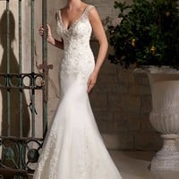 Mori Lee 2710 Sheer Back Lace Wedding Dress