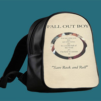 Fall Out Boy Poster Lyrics for Backpack / Custom Bag / School Bag / Children Bag / Custom School Bag *