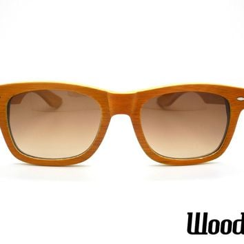 Orange Bamboo Wood Sunglasses