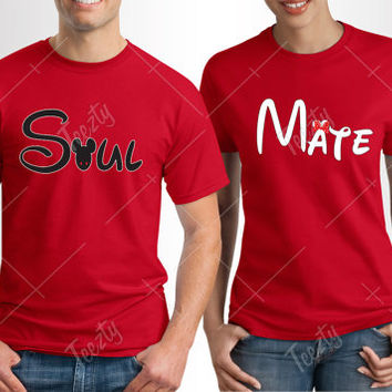 Soul Mate T-shirt T-shirts Mickey Minnie Mouse T-shirt T-shirts Sweatshirt Matching T-shirts Matching T-shirt Couple T-shirt Couple T-shirts