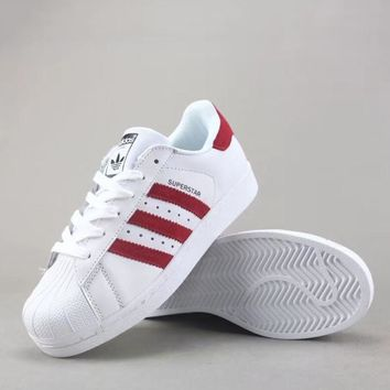 Adidas Superstar J Women Men Fashion Casual Canvas Shoes-1
