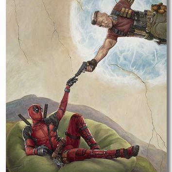 Custom Canvas Wall Decals Deadpool 2 Movie Poster Cable Josh Brolin Wall Stickers Marvel Comics Wallpaper Cafe Decoration #0415#