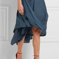 Vivienne Westwood Anglomania - Draped floral-print cotton-poplin skirt