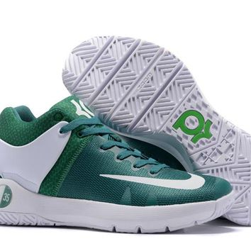HCXX N308 Nike Zoom KD Trey 5 iv Low Actual Basketball Shoes Green White